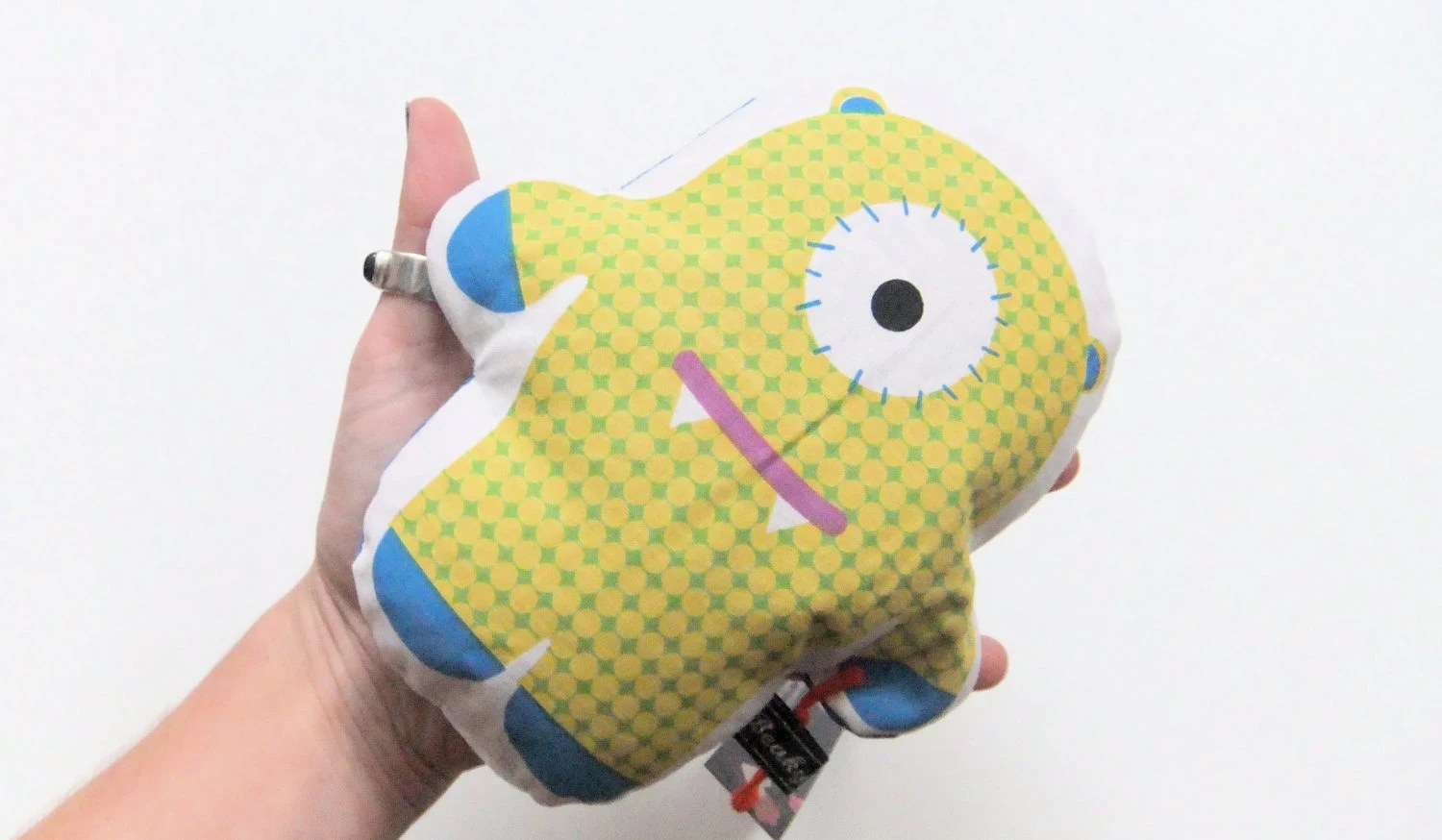 New - Monster wheat bag - yellow spotty