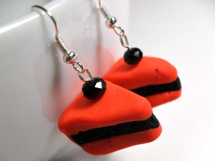Halloween Cake Earrings - $9
