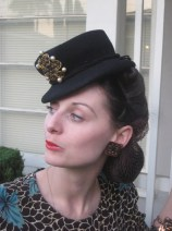 Don't Toy with me 1930s 1940s Black Tilt Toy Hat Must See