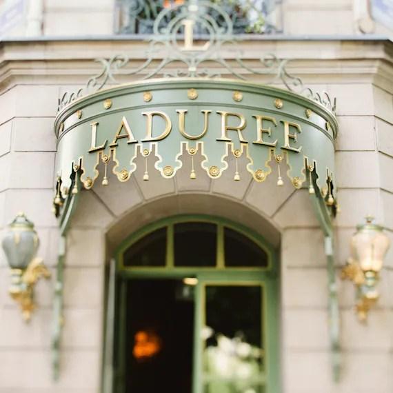 Paris Photograph, Laduree Shop Sign, Macarons, Mint, Pistachio, Green, Pastel, Romantic, Feminine - Sugar, Sugar