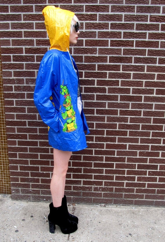 90's Teenage Mutant Ninja Turtles Color Block Raincoat Jacket