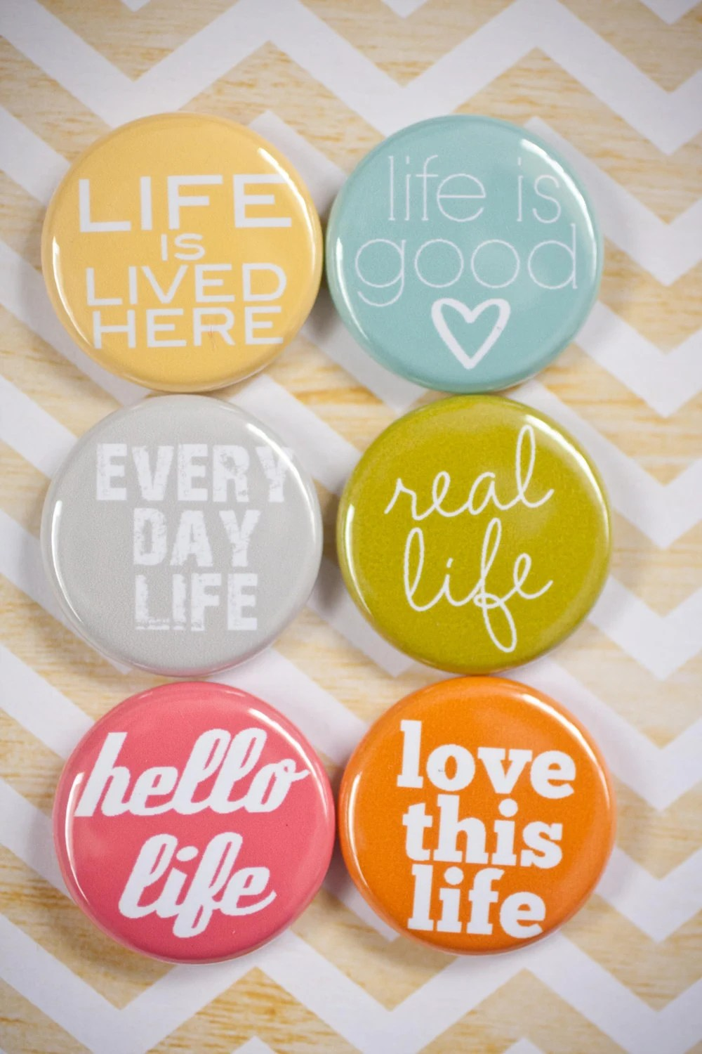 Project Life Flair Buttons - This is Life flair - A week in the Life Flair - alifehandmade