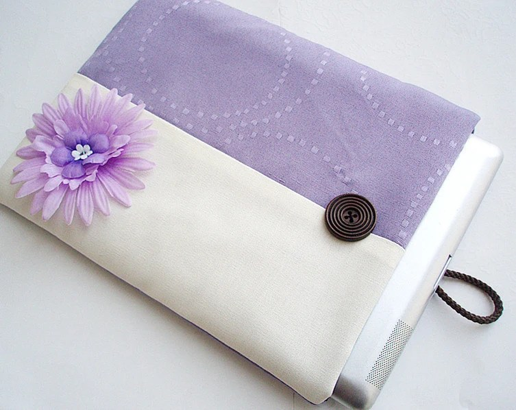 Ipad Sleeve Padded Ipad Case Tablet Sleeve Bicolor Lavender