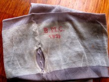 Vintage 1920s Seamed Silk Rayon Stockings - Monogramed '1926'
