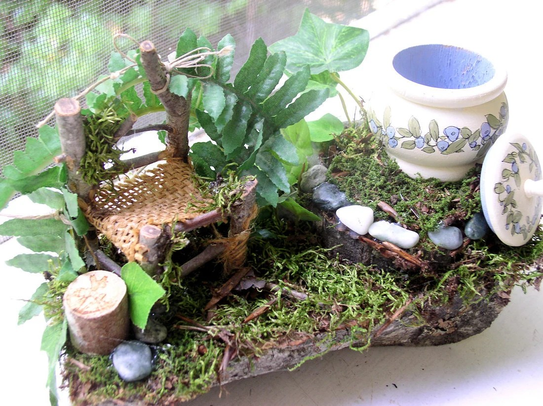 Woodland Fairy Chair and Trinket Box