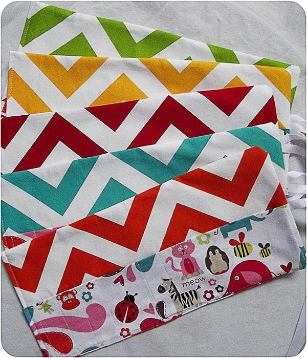 Chevron Crayon Roll