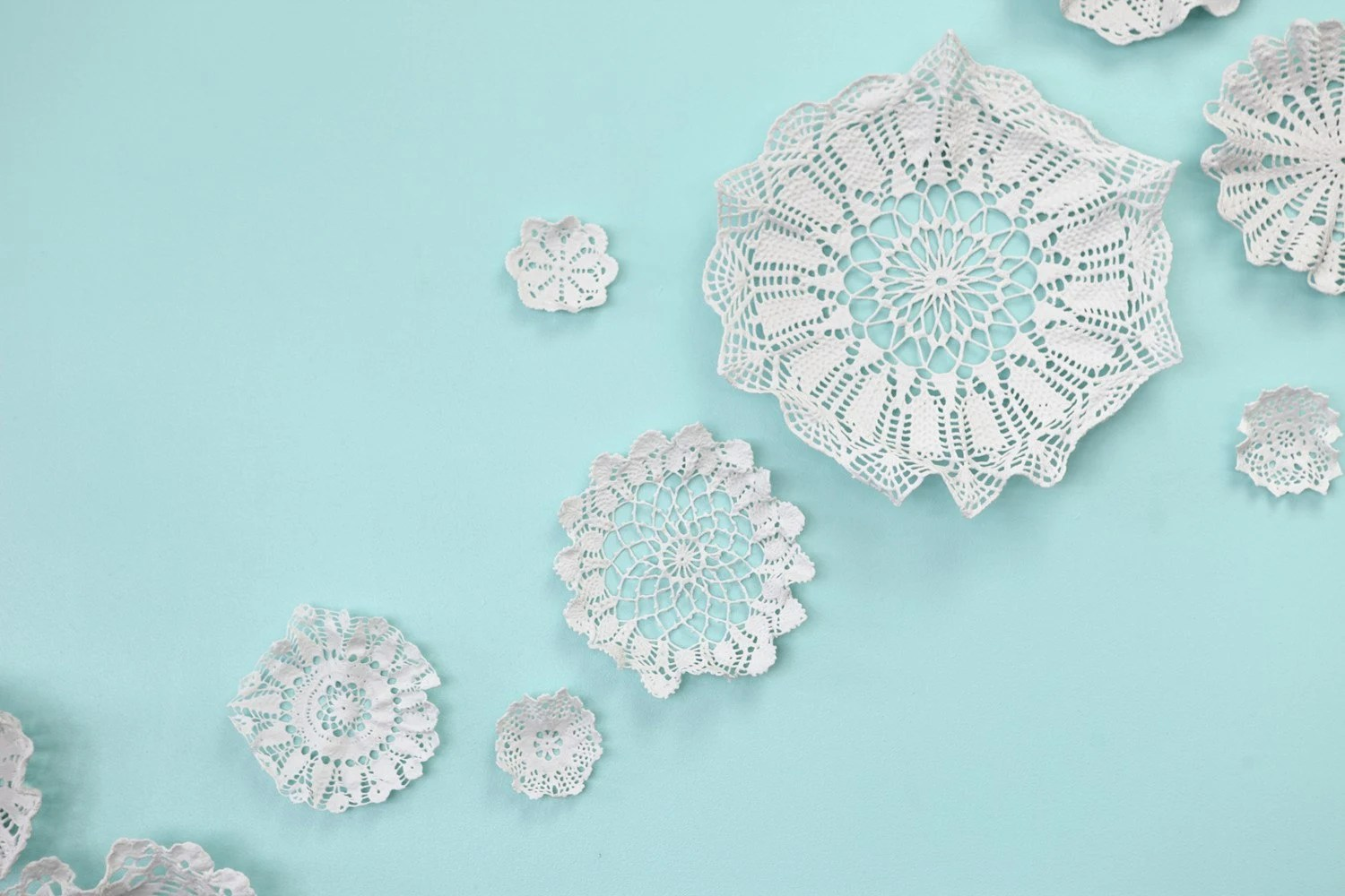 Forest Clearing - Porcelain Lace Decoration