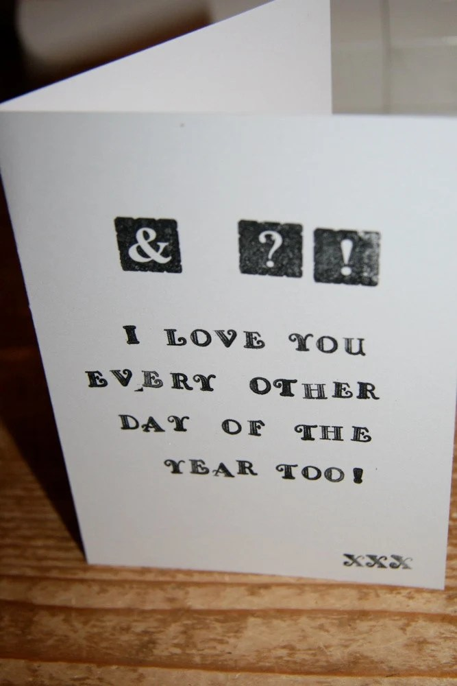 AND WHAT I Love You Every Day card - Do It Momma