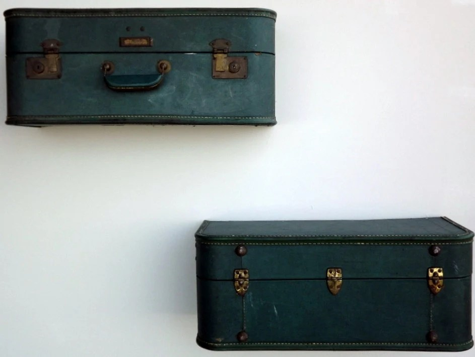 Vintage Suitacase Shelves by Quirks by Annie