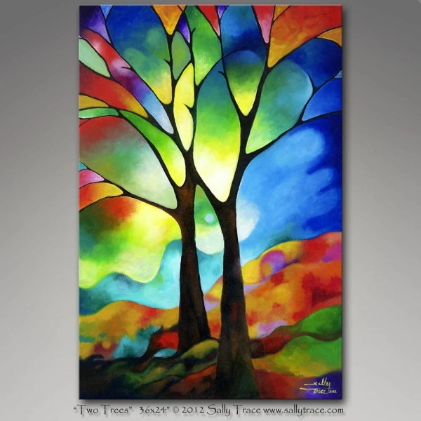 Abstract Tree Painting for Beginners