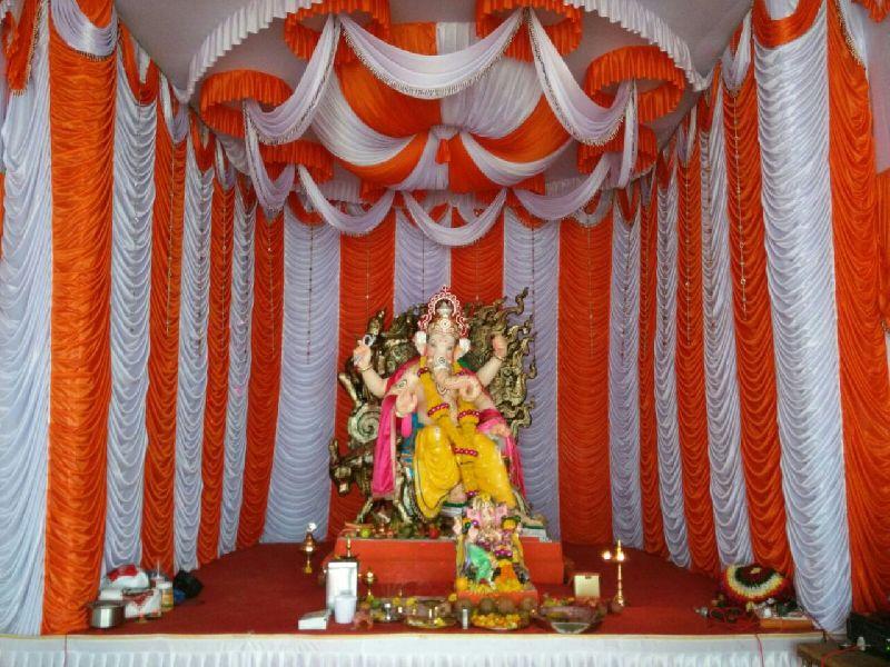 Decorative Ganpati Pandal Curtain Manufacturer in Mumbai