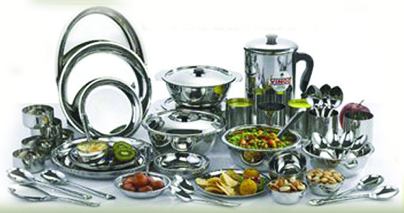 kitchen dish sets sink mats with drain hole dinner set steel appliances tips and review stainless dinn pro