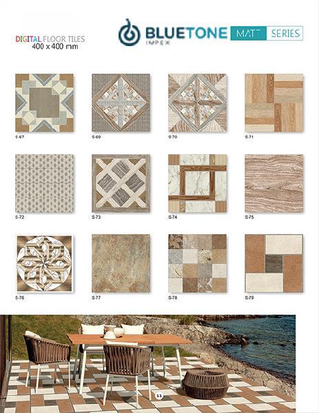 16x16 inch matt with brown color digital floor tiles s 78