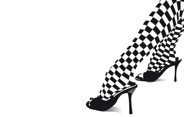 Wallpaper heels, legs, black and white images for desktop