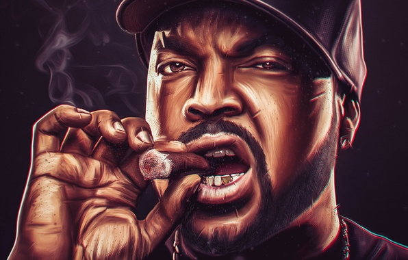 Nwa Iphone Wallpaper Wallpaper Chain Male Ice Cube Cigar Rapper Images For