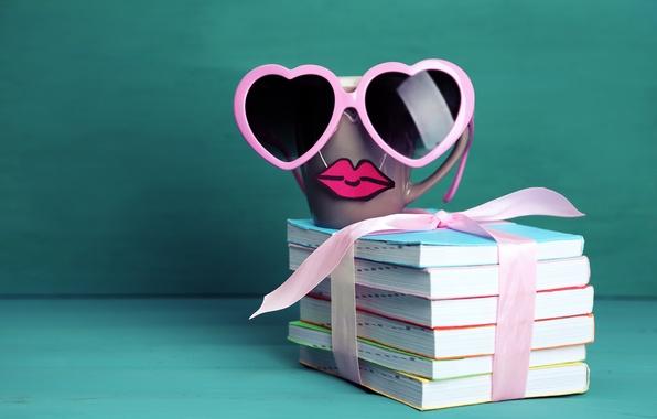 Cute Mustache Wallpaper Iphone Wallpaper Books Coffee Glasses Mug Cup Lips Funny