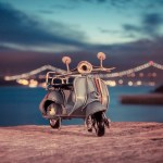 Wallpaper Macro Lights Model Toy Moped Shooting Promenade Toy Photo Photographer Bokeh Miniature Scooter Model Vespa Miniature Images For Desktop Section Makro Download