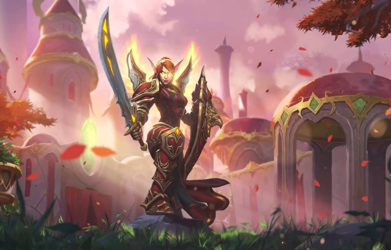 Wallpaper hearthstone. hearthstone. Lady Liadrin. new skin paladin. Lady Liadrin. new paladin hero images for desktop. section игры - download