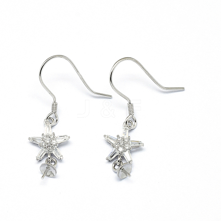 Wholesale 925 Sterling Silver Earring Findings, with Cubic