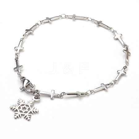 Wholesale 304 Stainless Steel Charm Bracelets, with 316