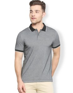 Grey cotton polo  shirt zoom image also buy by van heusen online shopping for rh limeroad