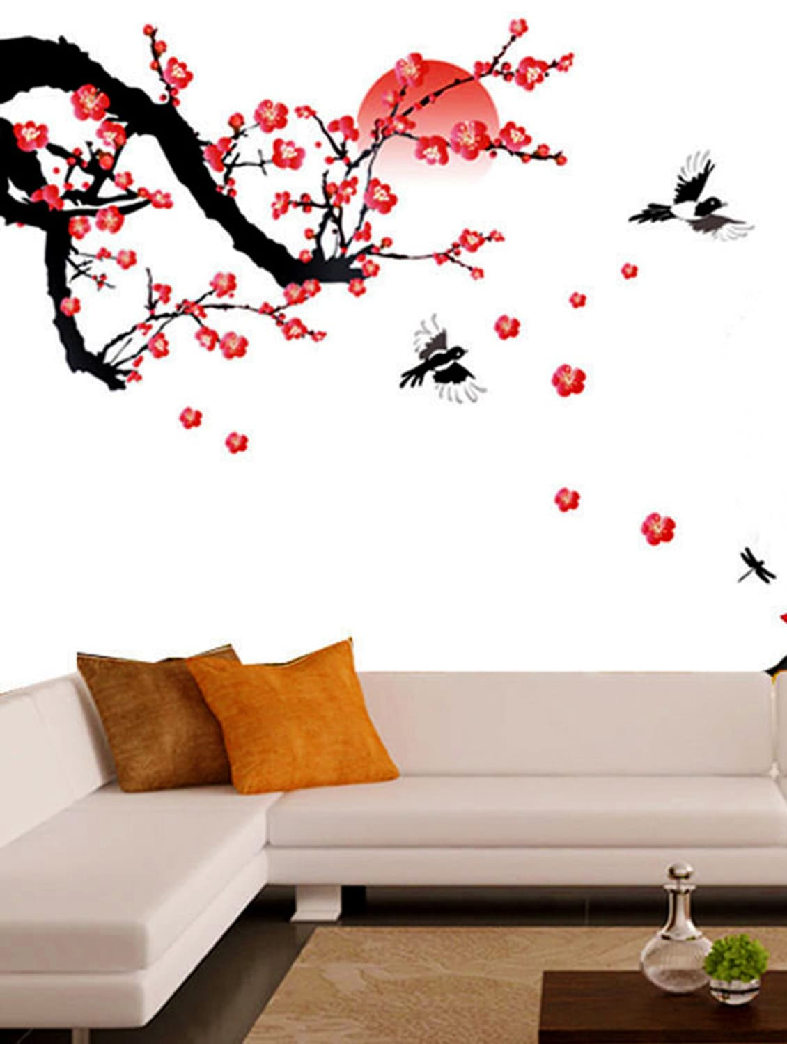 wall stickers living room wallpaper ideas for with dado rail buy decals blossoms and sunset by stikerskart 9725198 zoom image 1