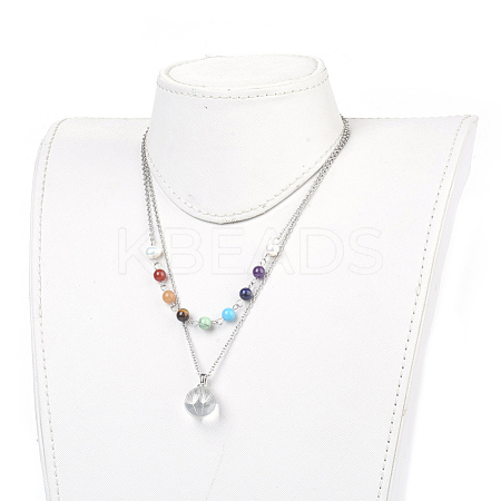 Wholesale 316 Stainless Steel Tiered Necklaces, with Dried