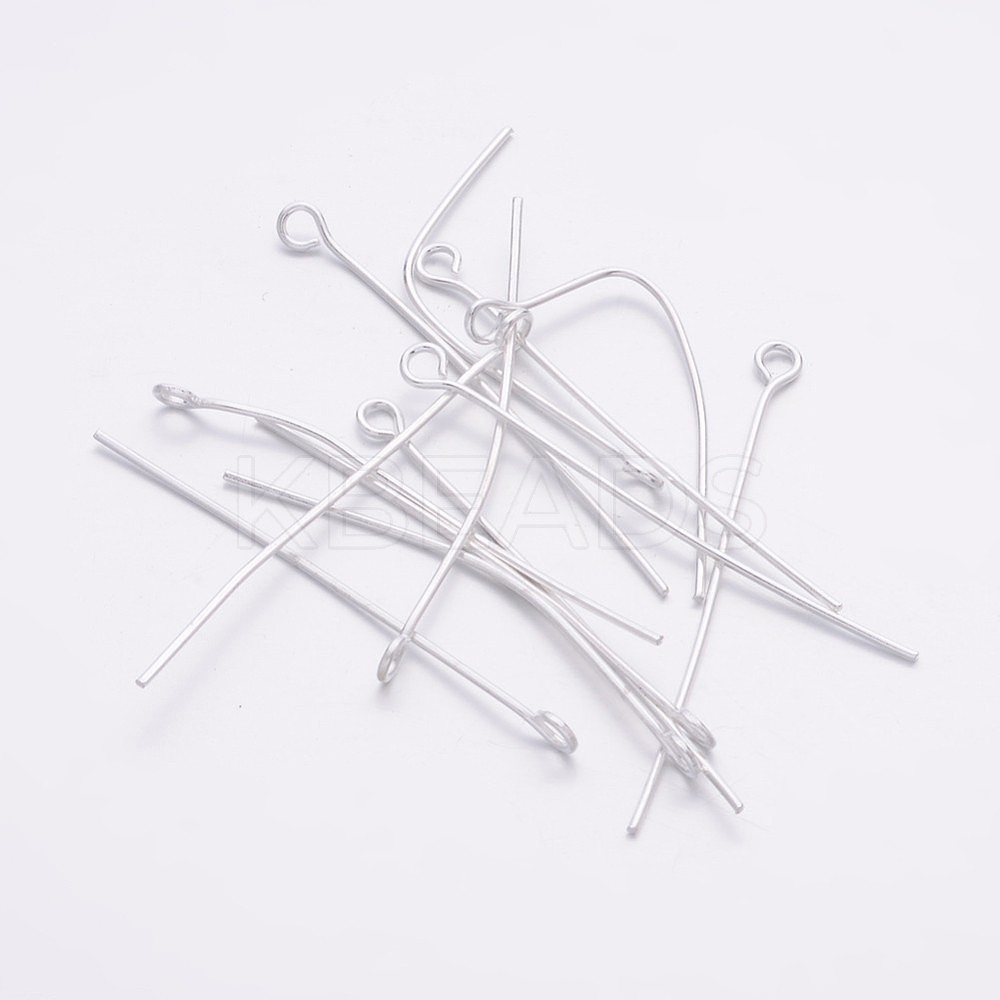 Wholesale Silver-color Iron Eye Pin, Size: about 4.0cm
