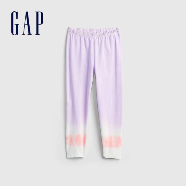 【GAP】女童 漸層舒適針織內搭褲(769654-紫色)