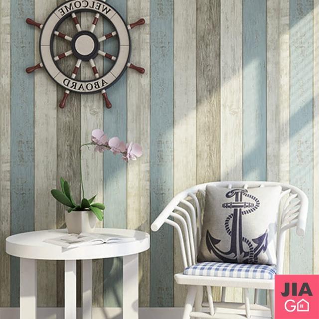 【JIAGO】DIY防水木紋自黏壁貼