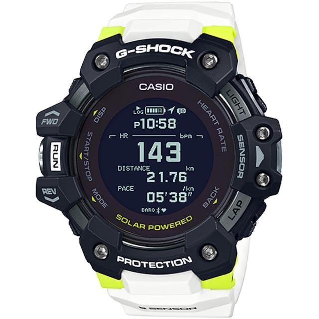 【CASIO 卡西歐】G-SHOCK 太陽能GPS心律運動錶(GBD-H1000-1A7)