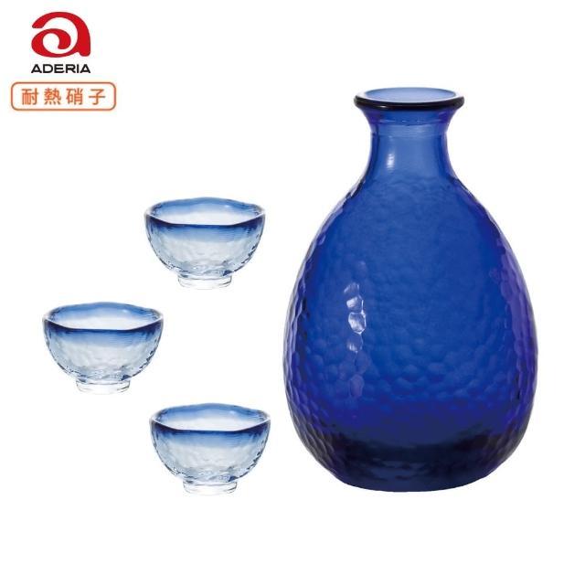 【ADERIA】日本津輕海藍色耐熱清酒壺 清酒杯 一壺三杯(清酒壺)