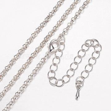 2.5mm Iron Necklace Making (MAK-A015-001S)-Iron Rolo Chain