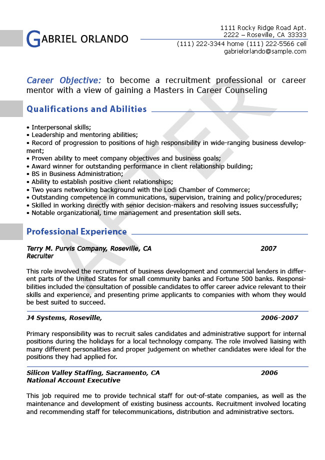 Resume Editing Samples ResumesPlanet Com