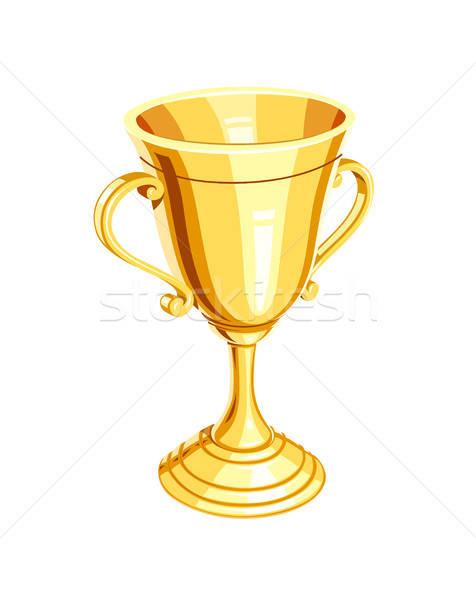 Złota · mistrz · kubek · złoty · zwycięzca · nagrody - ilustracja wektorowa © Aleksangel (#7969402) | Stockfresh