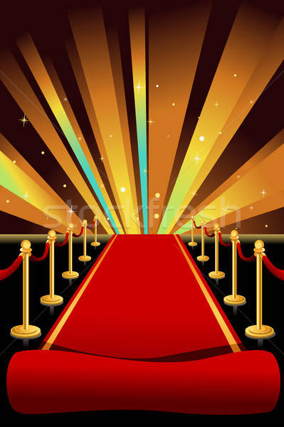 tapis rouge fond rouge glamour