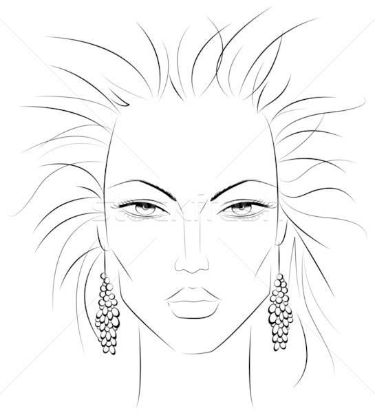 Make-up template v2 vector illustration © Alexandra King