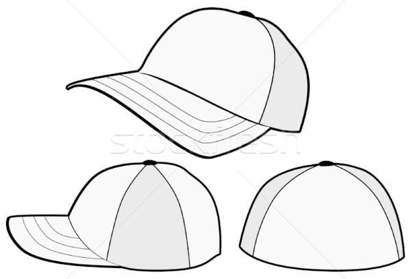 Baseball cap or hat vector template design. vector