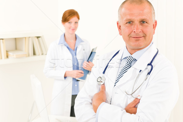 Medical doctor team senior male young nurse stock photo © Jean-Marie Guyon (CandyboxPhoto) (#1087226)   Stockfresh