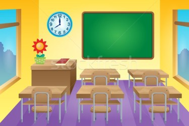 Empty classroom Stock Vectors Illustrations and Cliparts Stockfresh