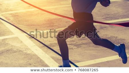 Marathon Finish Line vector illustration © John Takai