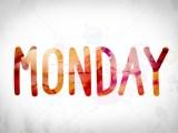 Monday Concept Watercolor Word Art Stock Photo Jason