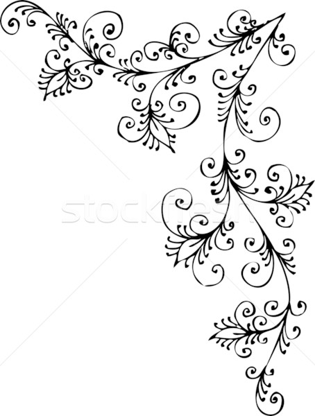 Baroque Pattern Vignette LXXXVII Vector Illustration