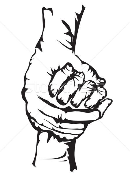 Kezek · kéz · a · kézben · tart · rajz · űrlap · család