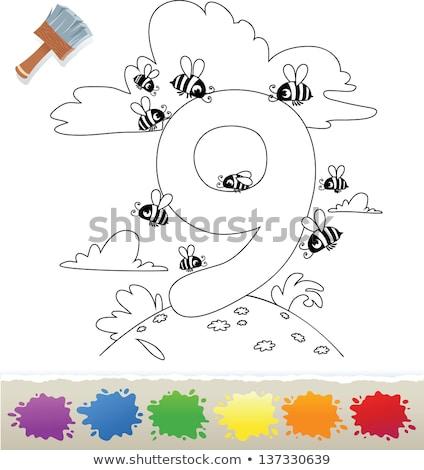 Desenho · animado · números · coleção · livro · para