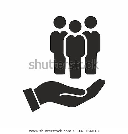Humanos · recursos · gestión · iconos · idea · diseno