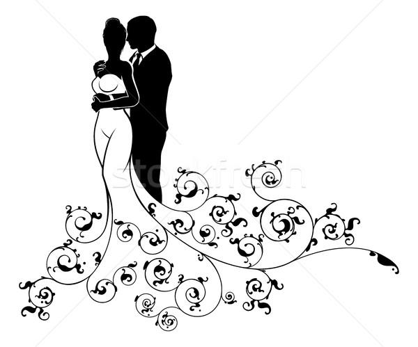 Casamento Noivos Silhueta