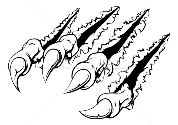 Ripping claw vector illustration © Christos Georghiou