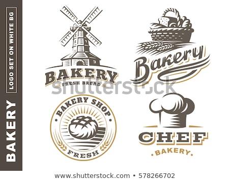 Bakery Shop Emblem Labels Logo And Design Elements Fresh Bread