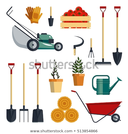 Gardening Tool and Equipment in Group Vector vector